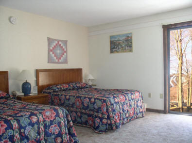 Deluxe room at Cascades Lodge, with view of Killington Slopes