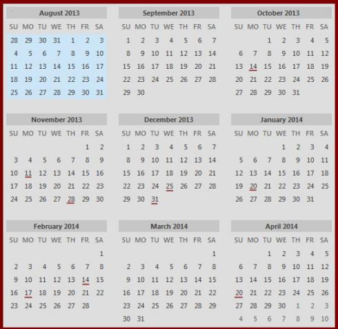 Broadcast Calendar 2018 | Calendar Template 2016